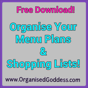 Organise Your Menu Plans and Shoppnig Lists